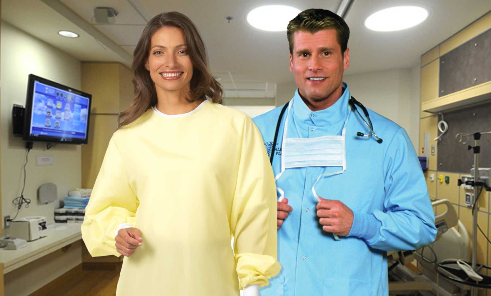 Precautionary Lab Coat Image