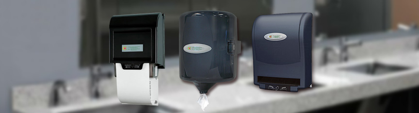 Image of three different type paper dispensers