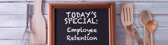Chalkboard that says employee retention