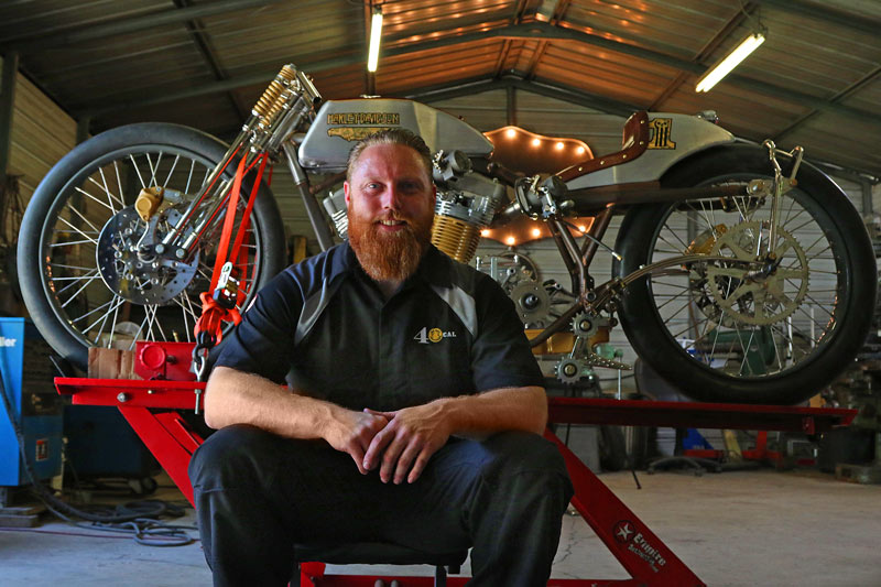 image of Matt Harris, owner of 40 Cal bikes