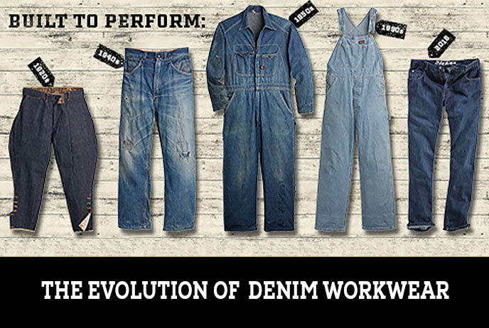 Image of various denim jeans
