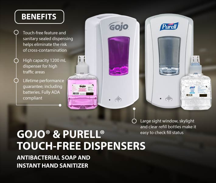 GOJO® and PURELL® Touchless Dispensers