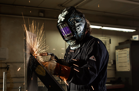 Industrial Image of man welding