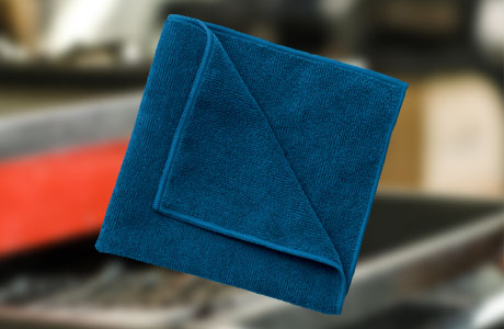 image of microfiber blue towel
