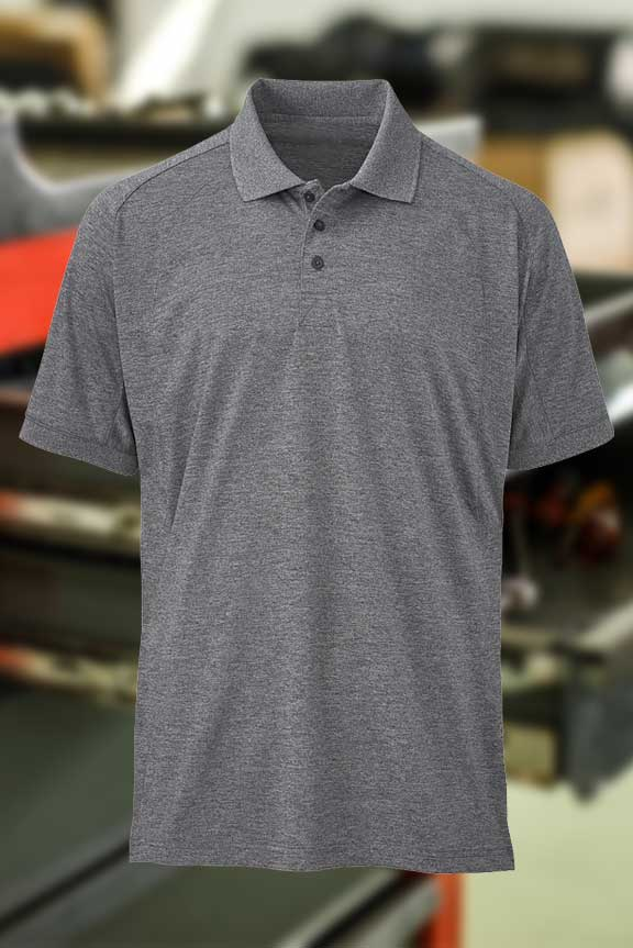 Mens Gray Polo Shirt
